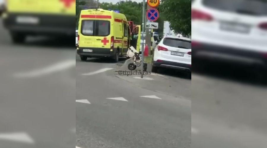 ©Кадр видео из телеграм-канала «Телетайп Краснодара», t.me/tipichkras