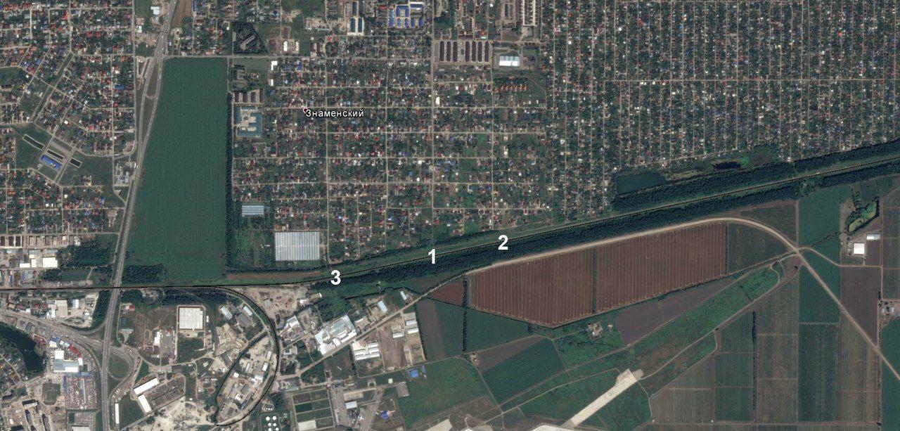 Возможные места для остановки в поселке Знаменском