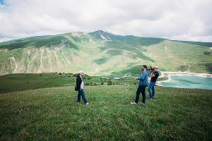"""Телеком-экспедиция """"МегаФон на высоте"""" на озере Кезеной-Ам ©Фото Юга.ру"""