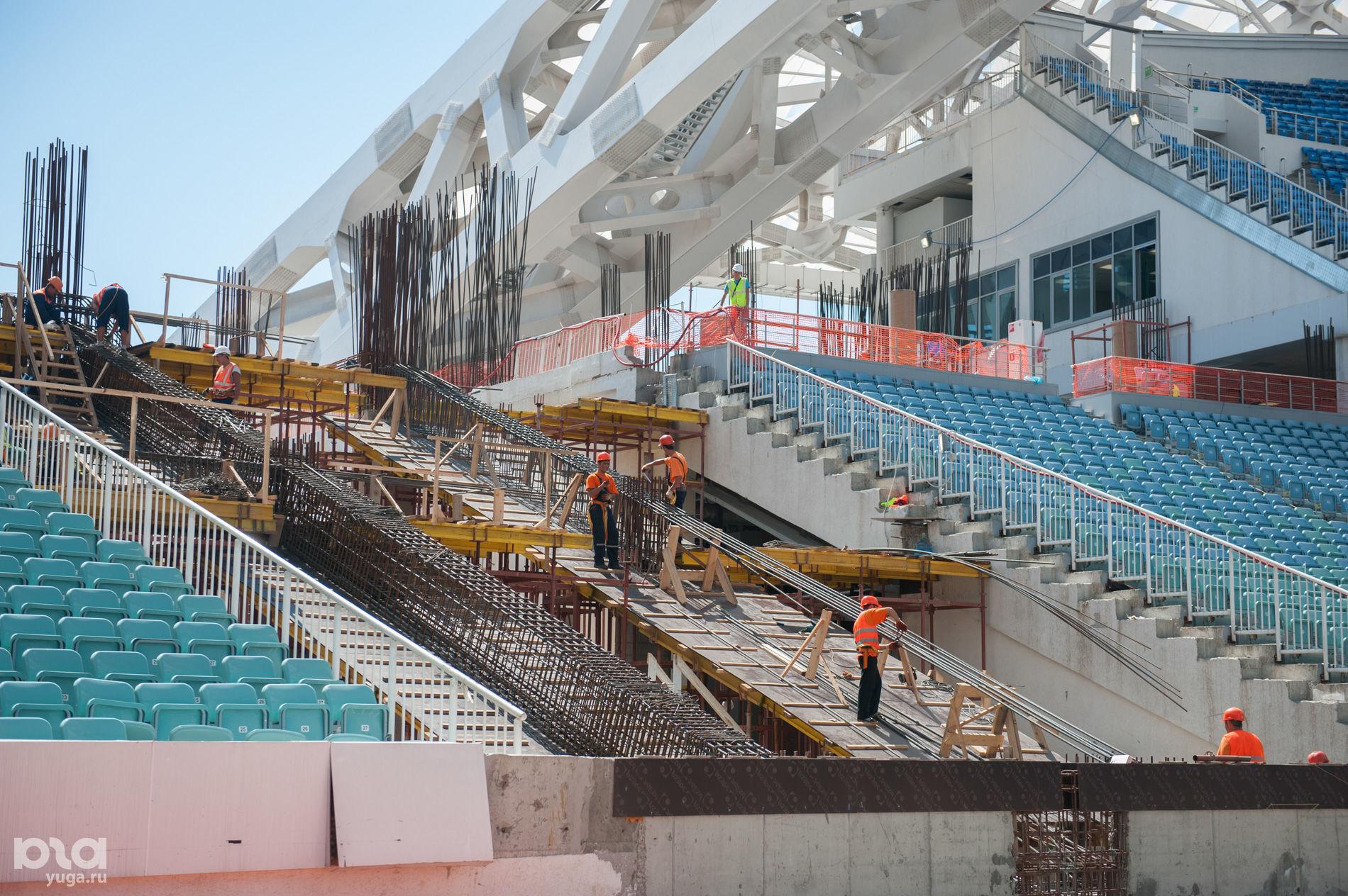 Делегация ФИФА проверила готовность сочинского стадиона «Фишт» ©Фото Нины Зотиной, Юга.ру