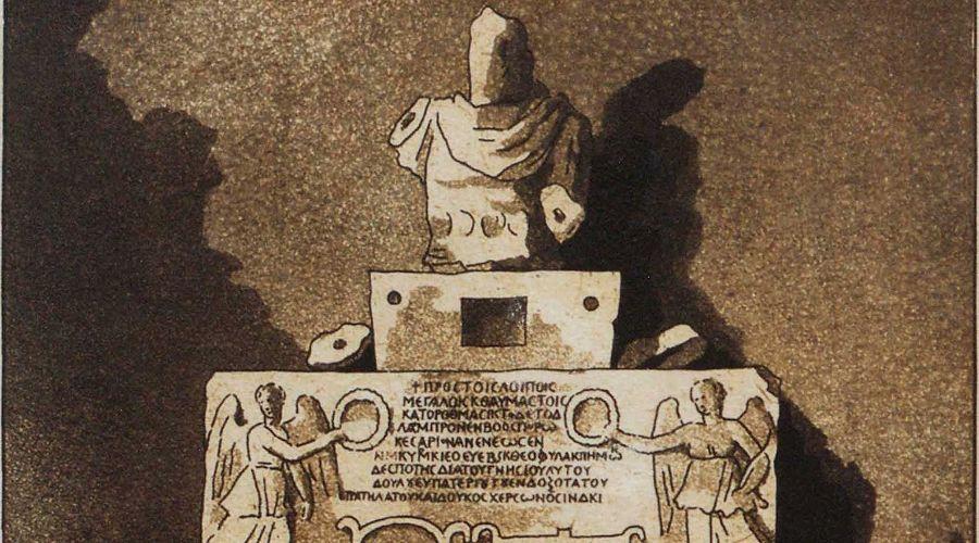 Монумент Н.А. Львова, посвященный Тмутараканскому камню и воздвигнутый в 1803 году в церкви города Фанагория ©Изображение предоставлено пресс-службой ЦСИ «Типография»