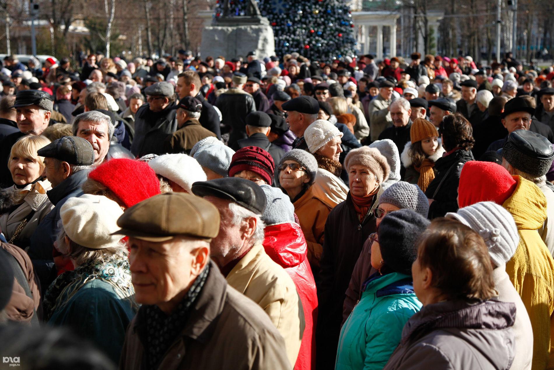 Митинг пенсионеров против отмены льгот на проезд, Краснодар, 2016 год