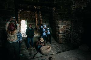 """Телеком-экспедиция """"МегаФон на высоте"""" в храме Тхаба-Ерды (Ингушетия) ©Фото Юга.ру"""