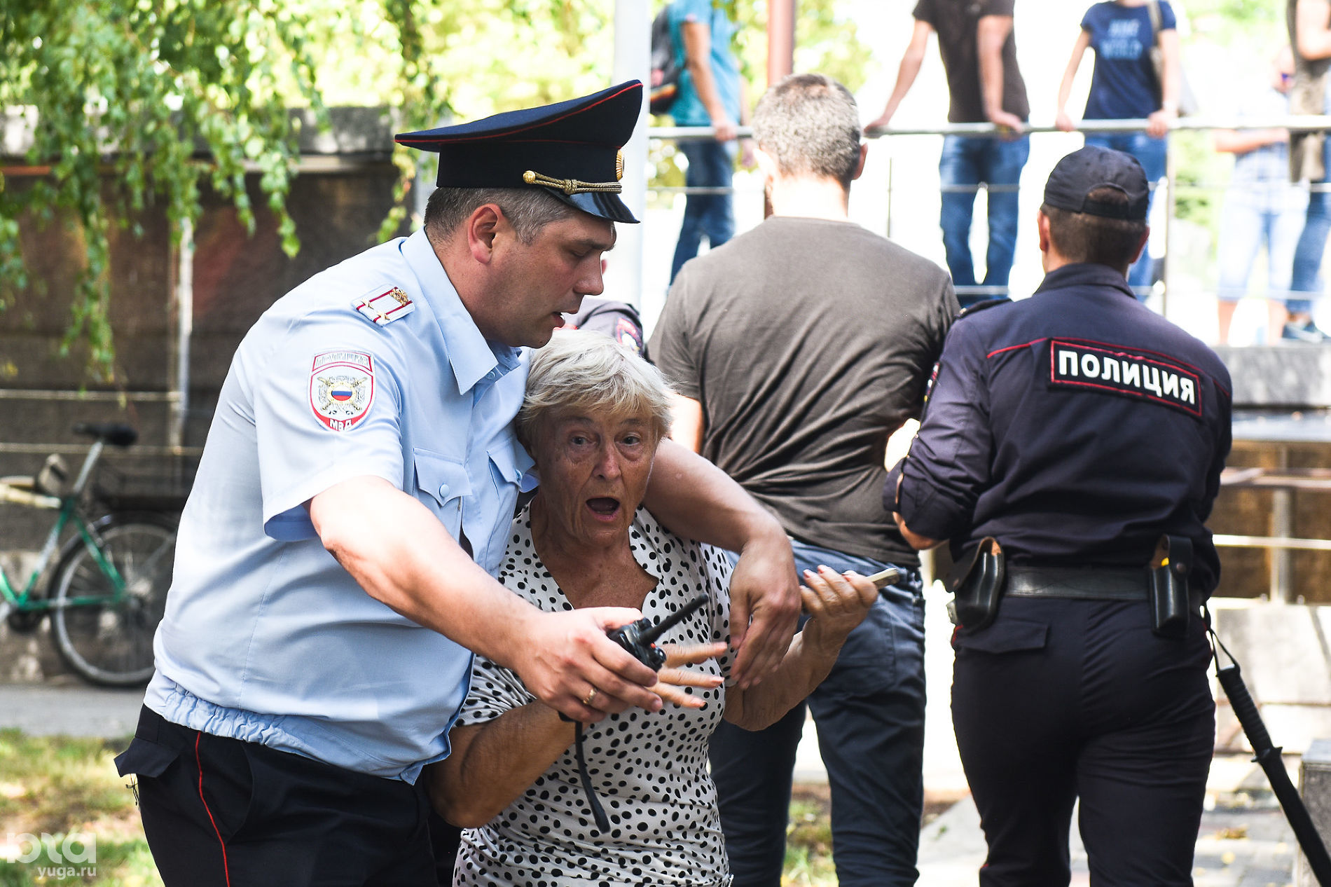 Протестная акция против пенсионной реформы в Краснодаре 9 сентября 2018 года ©Фото Елены Синеок, Юга.ру