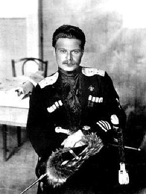 Андрей Григорьевич Шкуро  (1887-1947)— русский военный деятель, кубанский казак, офицер, генерал-лейтенант, группенфюрер СС. Участник Первой мировой и Гражданской войн