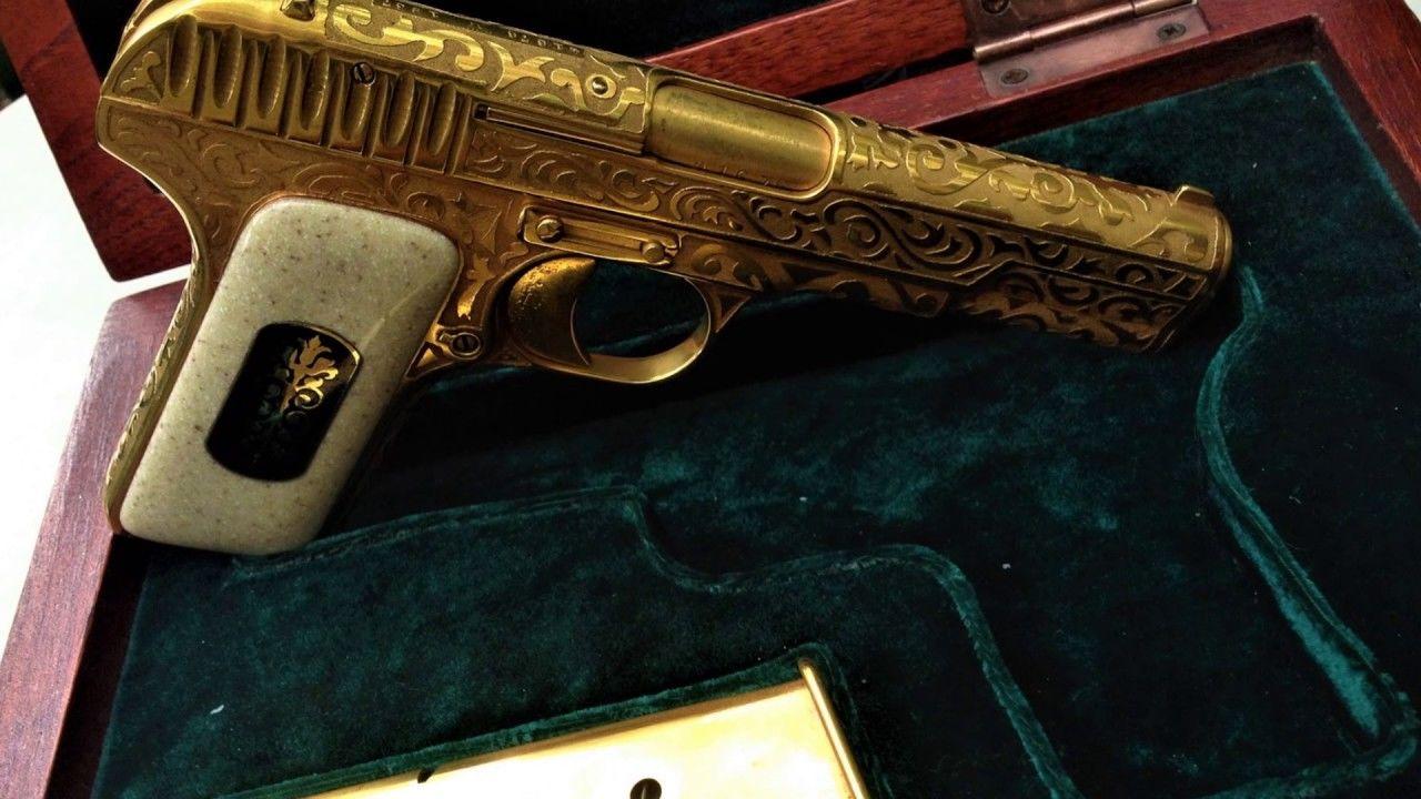Image result for золотой пистолет Гамидова фото