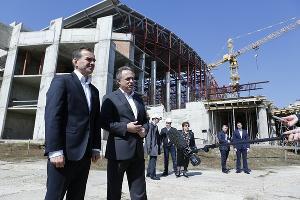 Вениамин Кондратьев и Виталий Мутко ©Фото пресс-службы администрации Краснодарского края