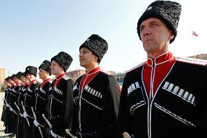 Построение казаков, участвующих в Параде Победы в Москве ©Влад Александров, ЮГА.ру
