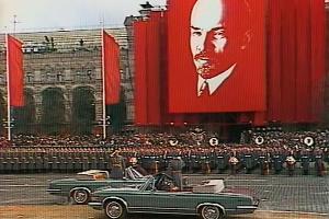 Празднование годовщины Октябрьской революции, Москва, 7 ноября 1987 года ©Кадр из видео канала «Библиотека Дульдурга» на youtube.com