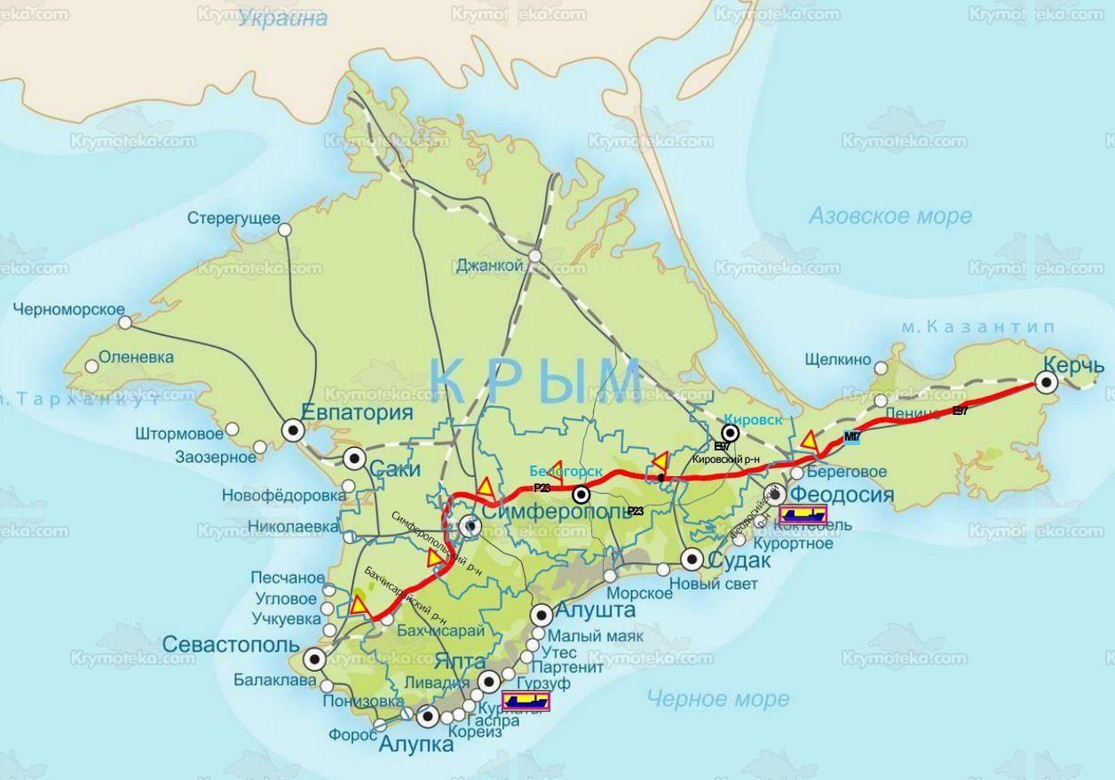 Схема крымской трассы «Таврида» ©Графика ресурса krymoteka.com