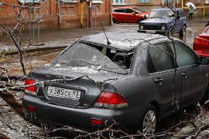 Последствия ледяного дождя в Краснодаре ©Влад Александров, ЮГА.ру