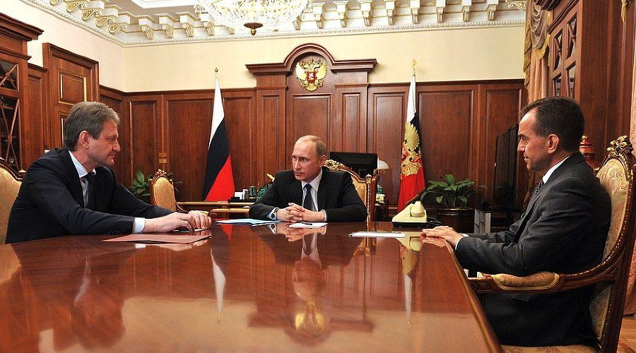 Встреча В. Путина с А. Ткачевым и В. Кондратьевым ©пресс-служба Кремля