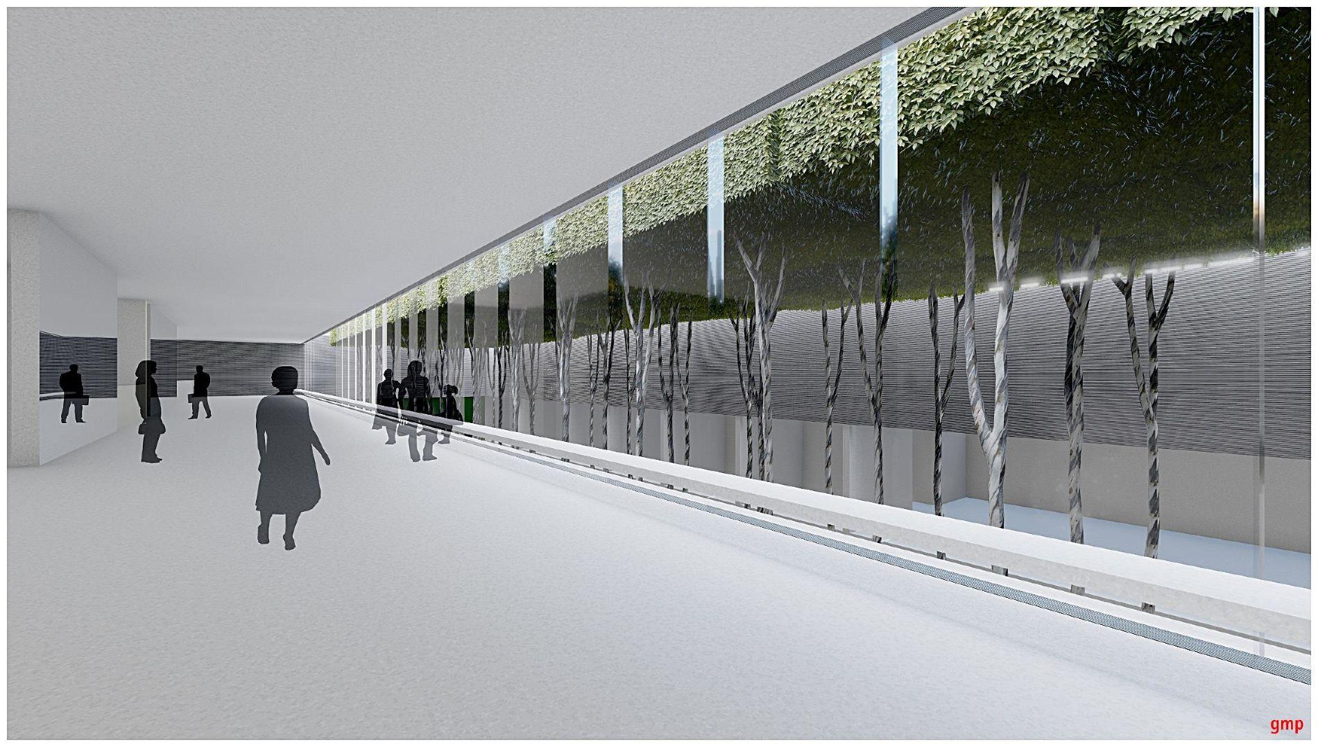 Северный вестибюль вид во двор ©Фото пресс-службы администрации Краснодара