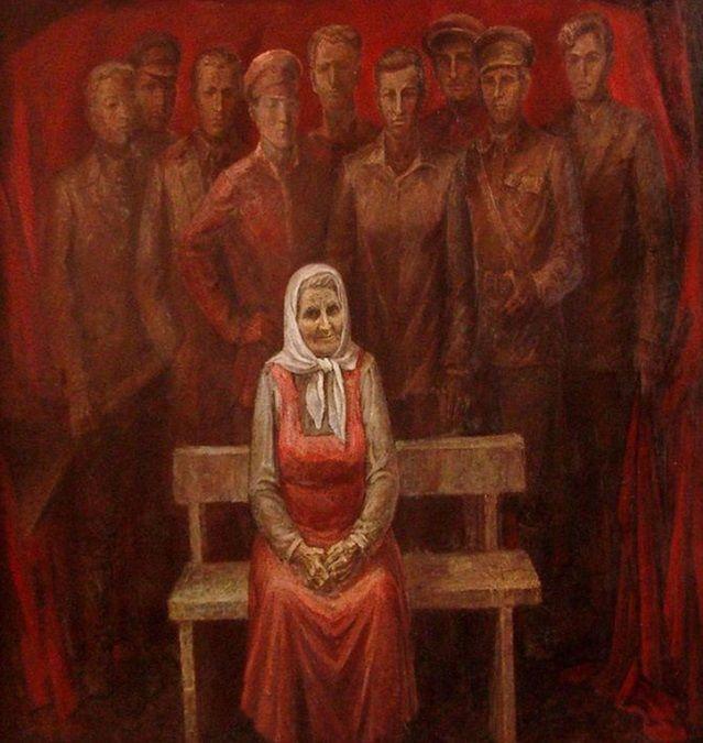Художник Александр Мызин. «Мать», 1973 г. ©Фото с сайта timashevsk.ru