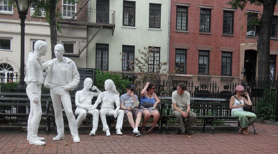 Памятник освобождению геев и лесбиянок, Нью-Йорк ©Фото с сайта flickr.com
