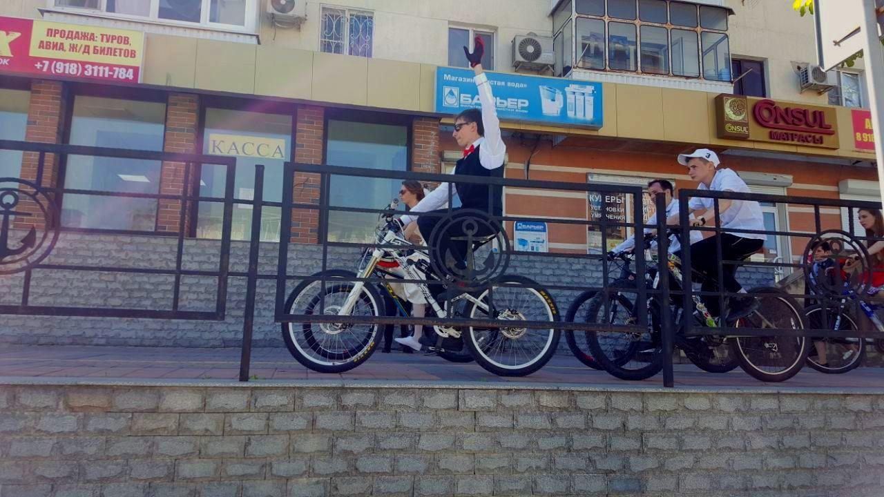 Первая велосвадьба прошла вНовороссийске