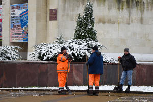 Снег в Краснодаре ©Елена Синеок, Юга.ру