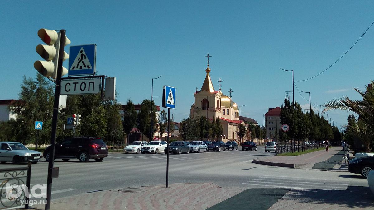 Проспект Ахмата Кадырова ©Фото Евгения Мельченко, Юга.ру