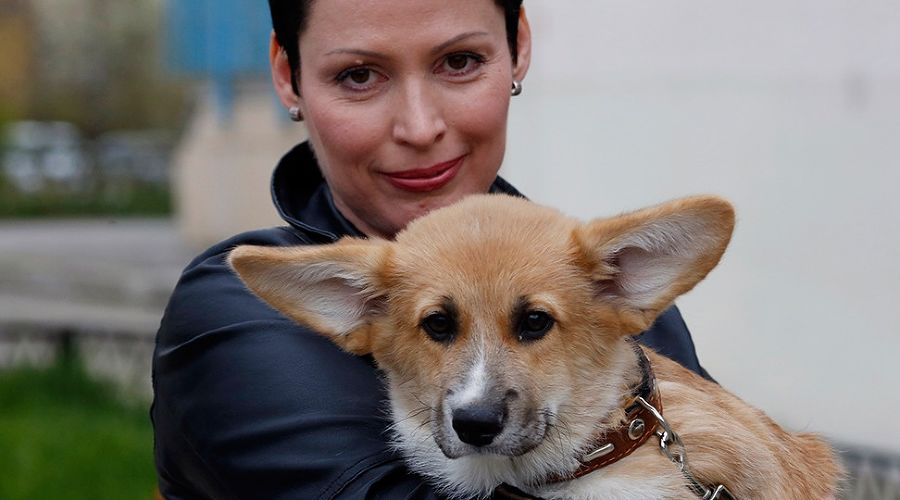 Елена Фадеева с Гошей ©Валерий Матыцин, ТАСС