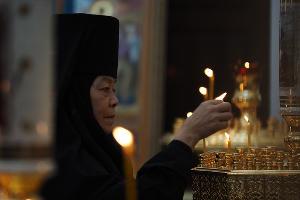 Служба в женском монастыре в честь иконы Божией Матери «Нерушимая Стена» в Апшеронске ©Фото Виталия Тимкива, Юга.ру