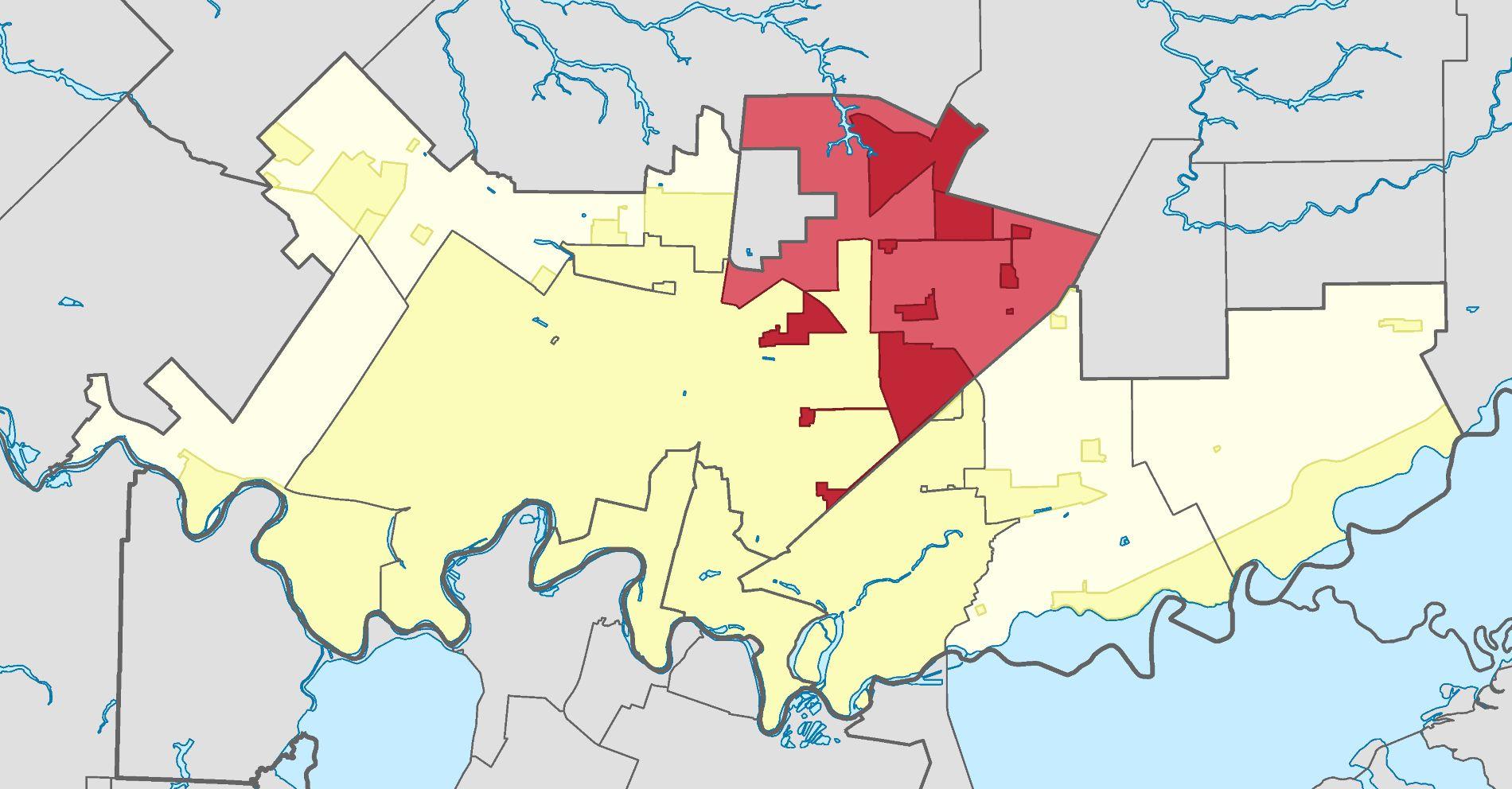 Калилинский сельский округ (выделен красным цветом) ©Изображение сайта Википедия