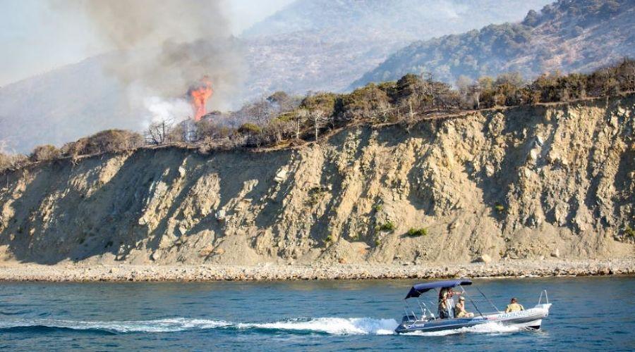 Пожар в заповеднике «Утриш» ©Фото пресс-службы администрации Анапы