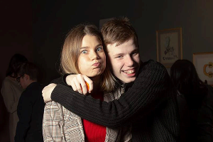 Анна Сметана и ее брат Никита
