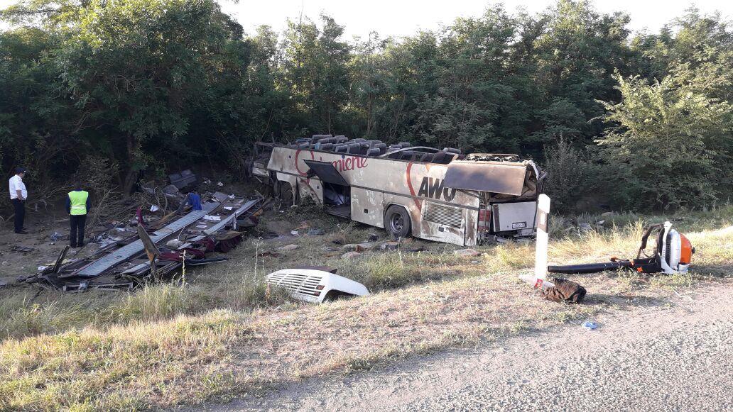 НаСтаврополье «десятка» протаранила автобус, двое погибли, 27 пострадали