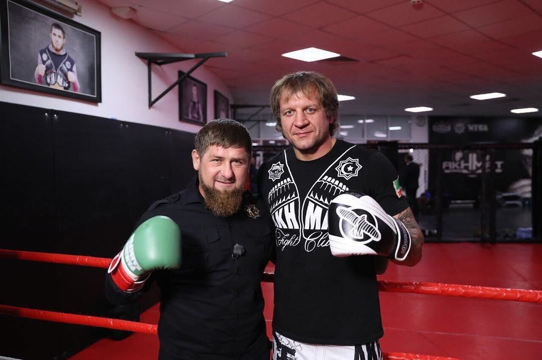 Александр Емельяненко провёл спарринг сРамзаном Кадыровым