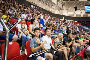 Россия уступила Франции в отборочном турнире КМ-2019 по баскетболу в Краснодаре ©Фото Елены Синеок, Юга.ру