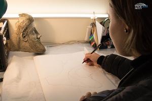 ©Фрагмент найденной скульптуры Фото инфоцентра «Крымский мост»