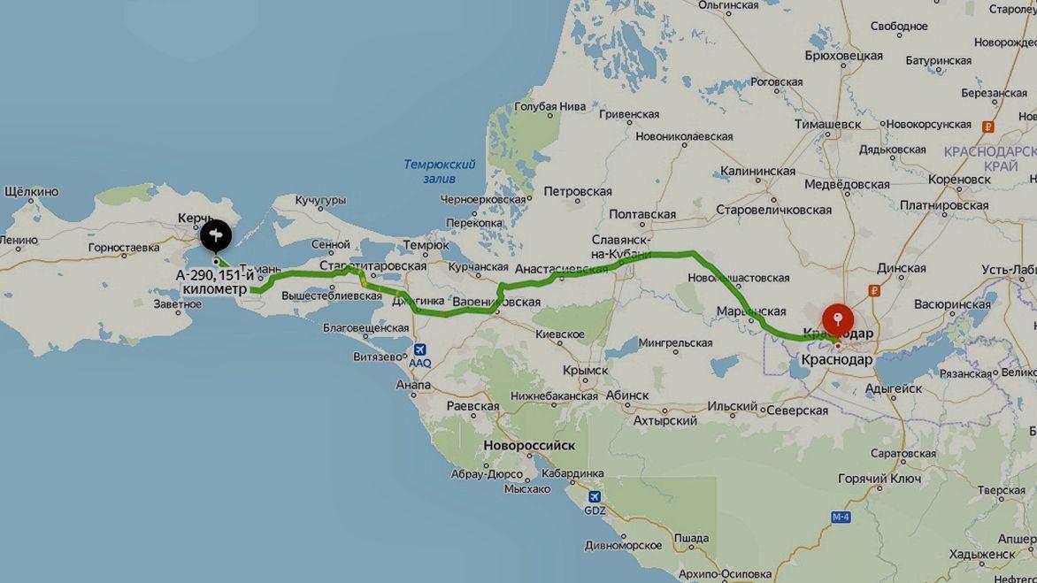 Альтернативные варианты дороги ©Графика сервиса «Яндекс.Карты»