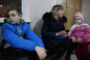 Пункт временного размещения пострадавших при пожаре на ул.Прокофьева ©Фото Виталия Тимкива, Юга.ру