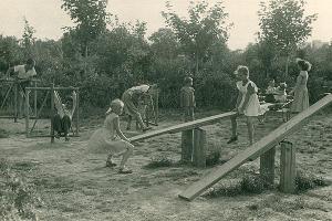 Детская площадка в парке совхоза «Кропоткинский» ©Изображение пресс-службы Тбилисского района