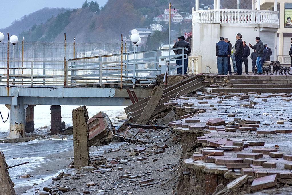 ВСочи зазиму построят новейшую набережную после урагана