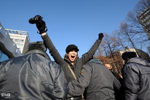 """2011 год в фотографиях. Митинг """"За честные выборы"""" ©Фото Елены Синеок, Юга.ру"""