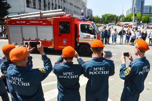 370-летие пожарной охраны России в Краснодаре ©Фото Елены Синеок, Юга.ру