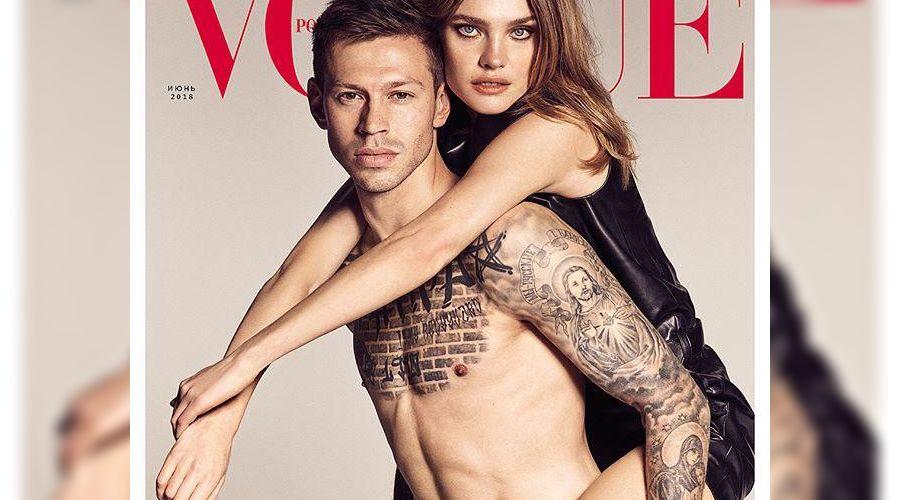 Федор Смолов и Наталья Водянова для Vogue Russia ©Фото Vogue Russia