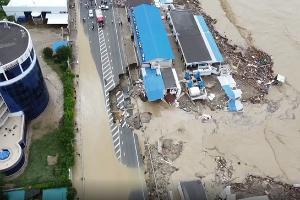 Наводнение в Лермонтово ©Скриншот видео из инстаграма 555vyacheslavovich, instagram.com/555vyacheslavovich/