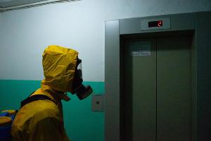Дезинфекция жилых домов в Краснодаре ©Фото Дмитрия Леснова, Юга.ру