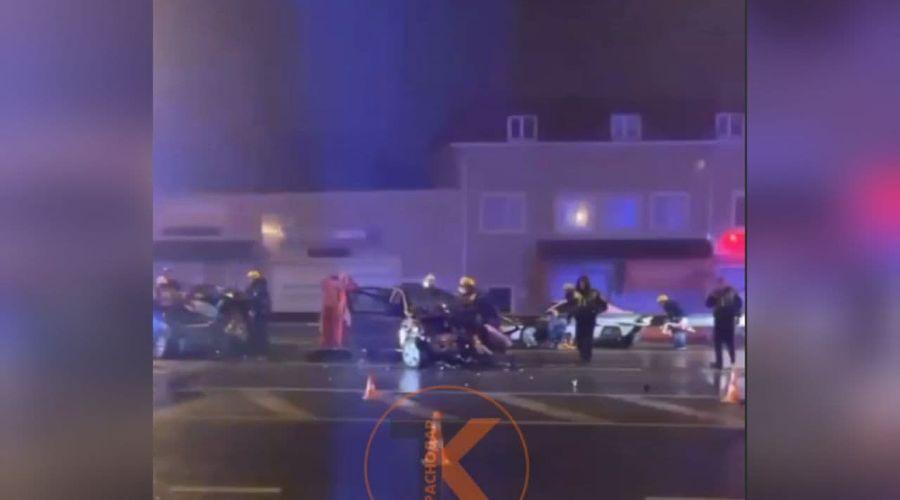 ©Скриншот видео из телеграм-канала «телетайп Краснодар», t.me/krd_tipich_ru