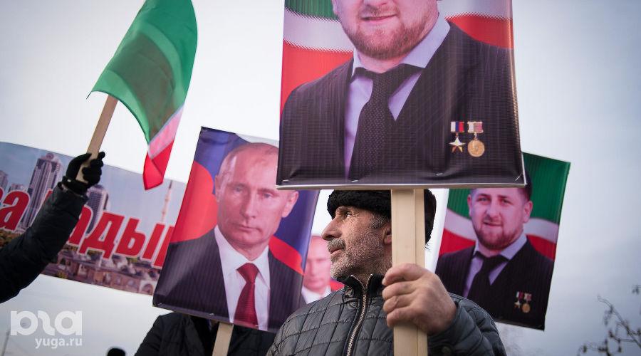 Митинг в поддержку Кадырова в Грозном ©Антон Подгайко, ЮГА.ру