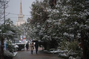 Снег в Сочи ©Фото Нины Зотиной, Юга.ру