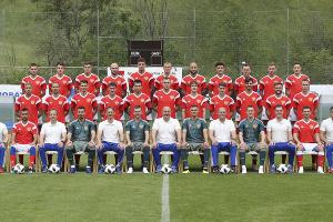 Сборная России по футболу на ЧМ—2018 ©Фото с сайта Российского футбольного союза, rfs.ru