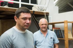 Евгений Первышов в ЦСИ «Типография» ©Фото Елены Синеок, Юга.ру