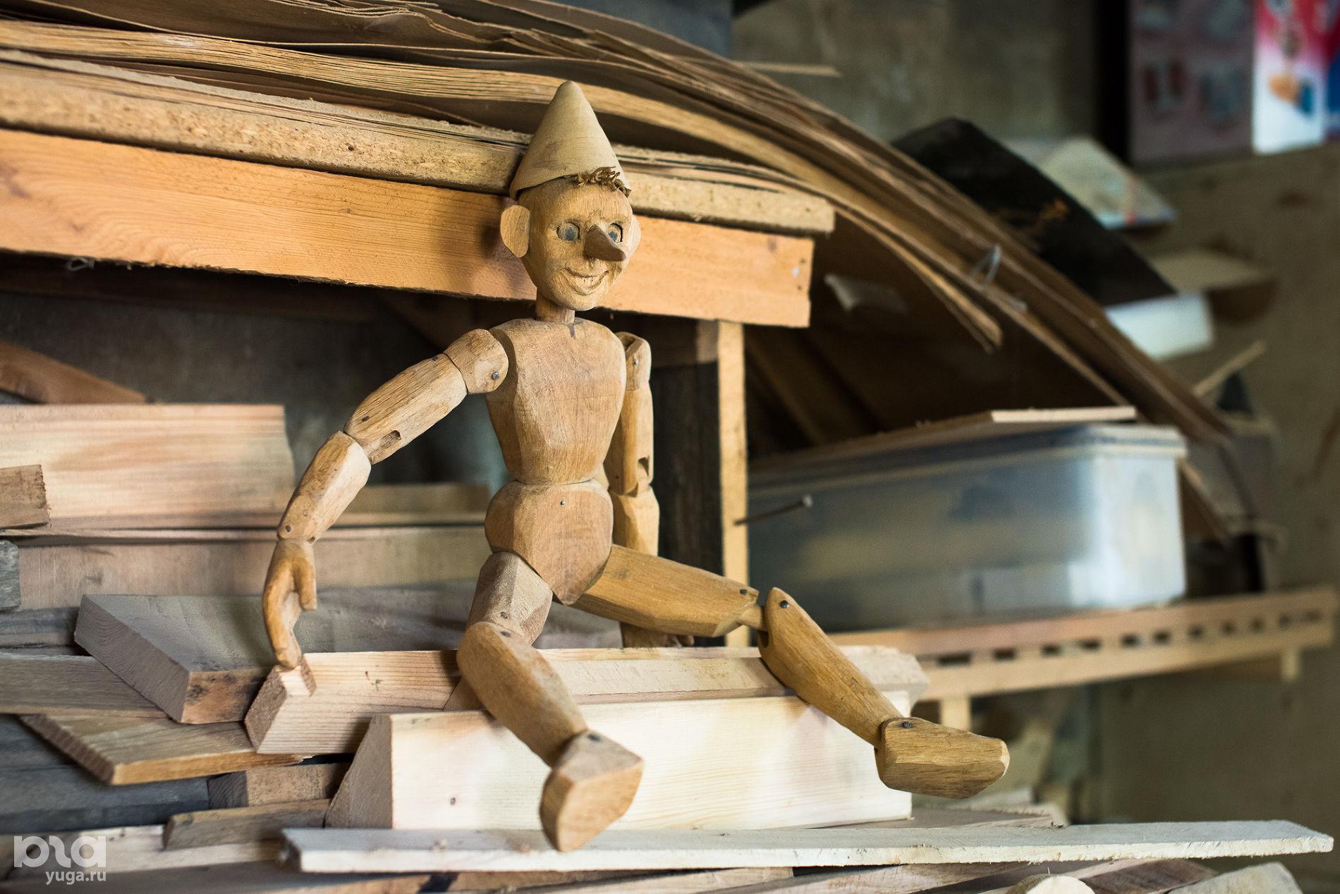 Первый (неудачный) Буратино. В мастерской Николая Стежкина ©Фото Елены Синеок, Юга.ру