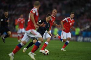 Россия проиграла Хорватии по пенальти в 1/4 чемпионата мира по футболу в Сочи ©Фото Елены Синеок, Юга.ру