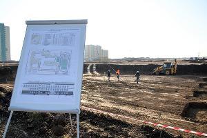 Строительство школы в Новознаменском районе ©Фото пресс-службы администрации Краснодара