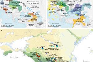Карта образцов, мест и археологических культур, упомянутых в исследовании ©Графика с сайта www.nature.com
