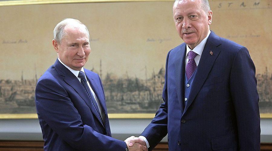 Владимир Путин и Реджеп Тайип Эрдоган ©Фото пресс-службы Кремля